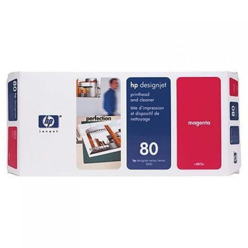 HP Testina di stampa e dispositivi di pulizia magenta DesignJet 80 cod. C4822A
