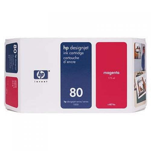HP 80 175-ml Magenta Ink Cartridge - C4874A