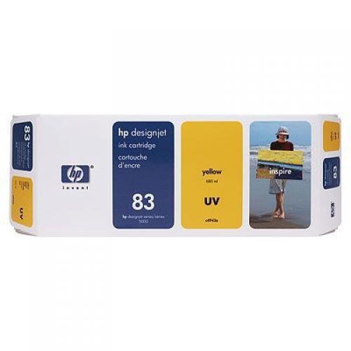 HP Cartuccia inchiostro UV giallo DesignJet 83, 680 ml cod. C4943A