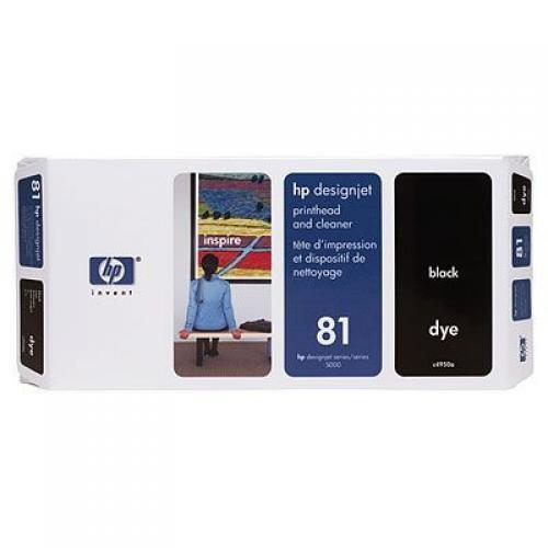 HP 81 Black Dye Printhead and Printhead Cleaner - C4950A