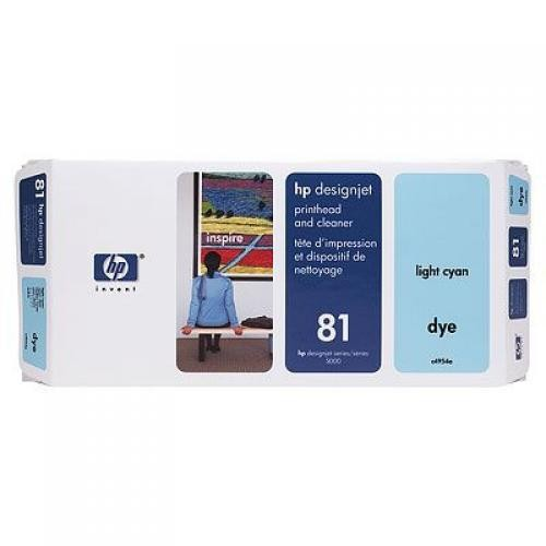 HP 81 Light Cyan Dye Printhead and Printhead Cleaner - C4954A