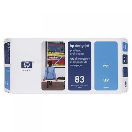HP Testina di stampa e dispositivi di pulizia ciano UV DesignJet 83 cod. C4961A