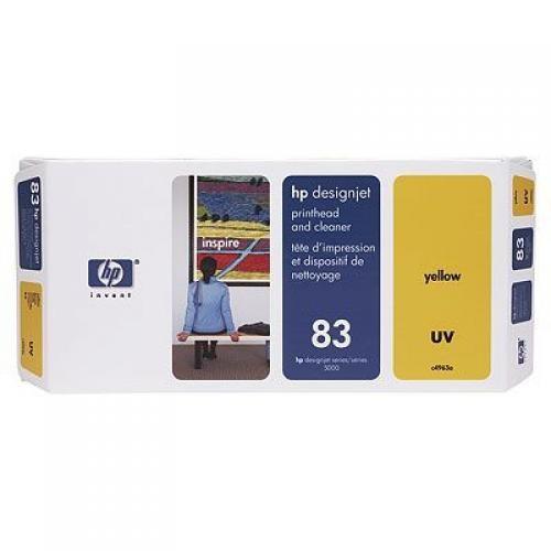 HP Testina di stampa e dispositivi di pulizia giallo UV DesignJet 83 cod. C4963A