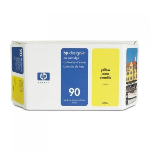 HP 90 225-ml Yellow Ink Cartridge - C5064A