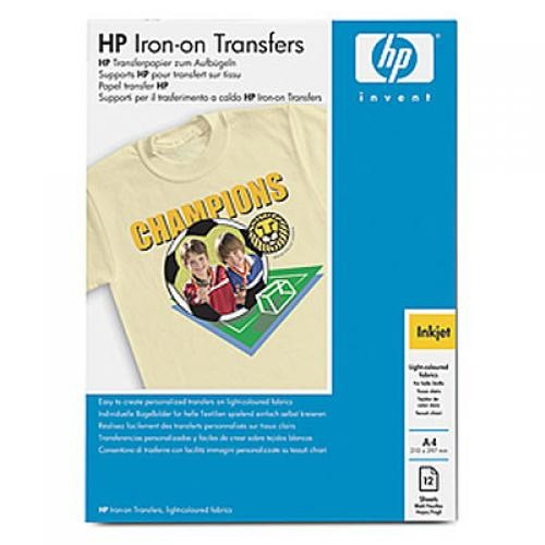 HP Iron-on Transfers-12 sht/A4/210 x 297 mm - C6050A
