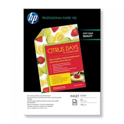 HP Professional Glossy Inkjet carta inkjet A4 (210x297 mm) Lucida Bianco cod. C6818A