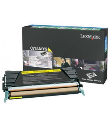 Lexmark C734A1YG cartuccia toner Original Giallo 1 pezzo(i) cod. C734A1YG