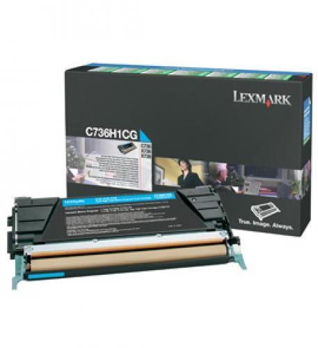Lexmark TONER CIANO C736 X736 X738 RETURN 10000 K HY - C736H1CG