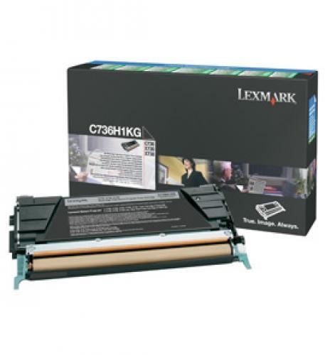 Lexmark C736, X736, X738 12K zwarte retourpr. tonercartr. - C736H1KG