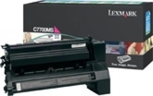 Lexmark Magenta Return Program Print Cartridge for C770/C772 - C7700MS