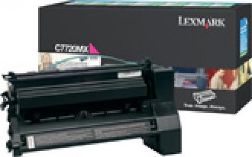 Lexmark C772, X772e 15K magenta retourpr. printcartr. - C7720MX