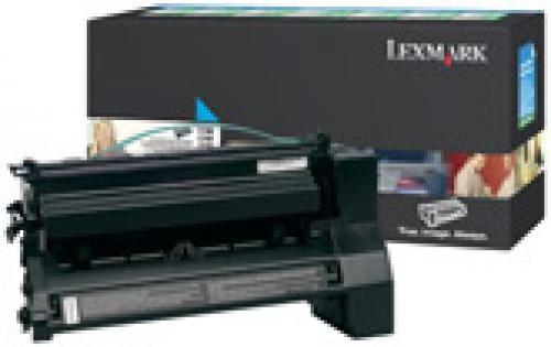Lexmark C78x, X782e 6K cyaan retourprogr. printcartr. - C780A1CG