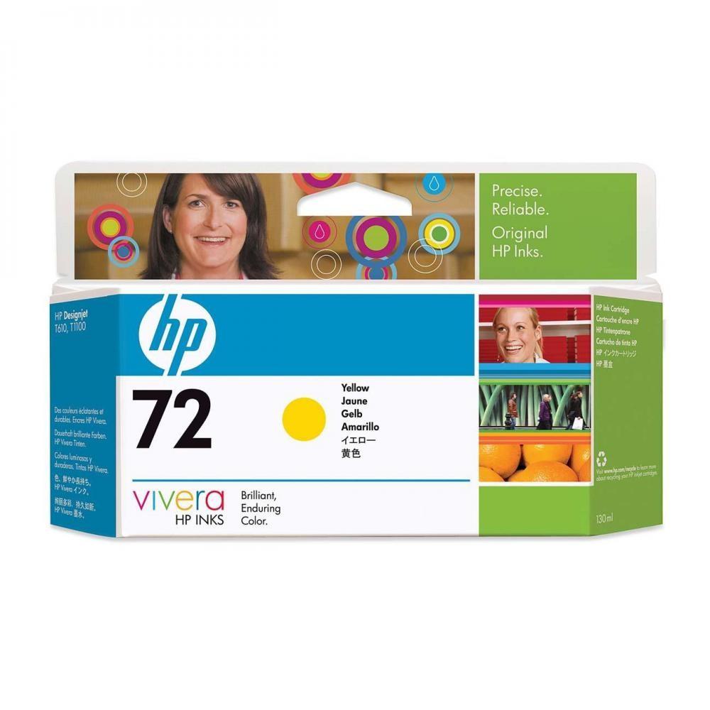 HP 72 130-ml Yellow Ink Cartridge - C9373A