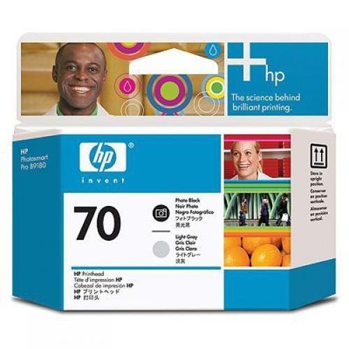 HP Testina di stampa nero fotografico e grigio chiaro DesignJet 70 cod. C9407A