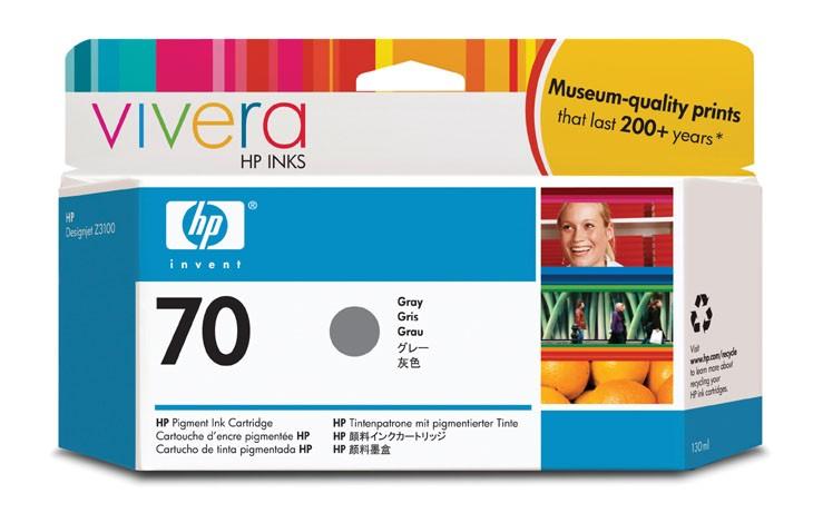 HP Cartuccia inchiostro grigio DesignJet 70, 130 ml cod. C9450A
