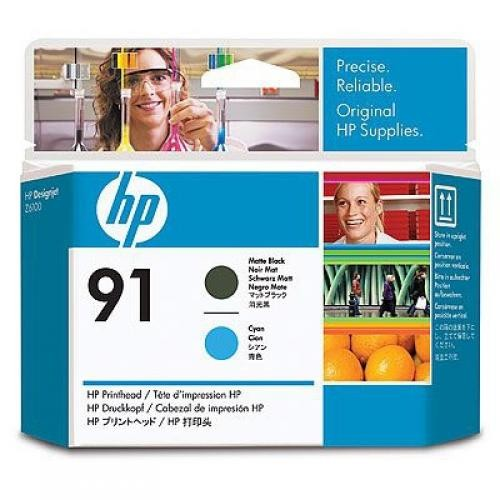 HP 91 Matte Black and Cyan Printhead - C9460A