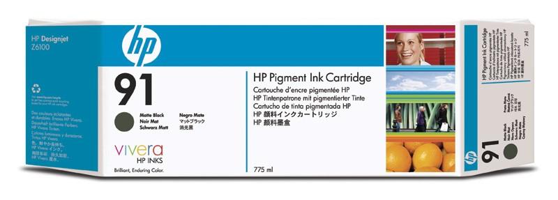 HP 91 775-ml Pigment Matte Black Ink Cartridge - C9464A