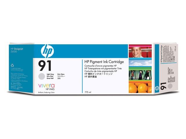 HP 91 775-ml Pigment Light Gray Ink Cartridge - C9466A