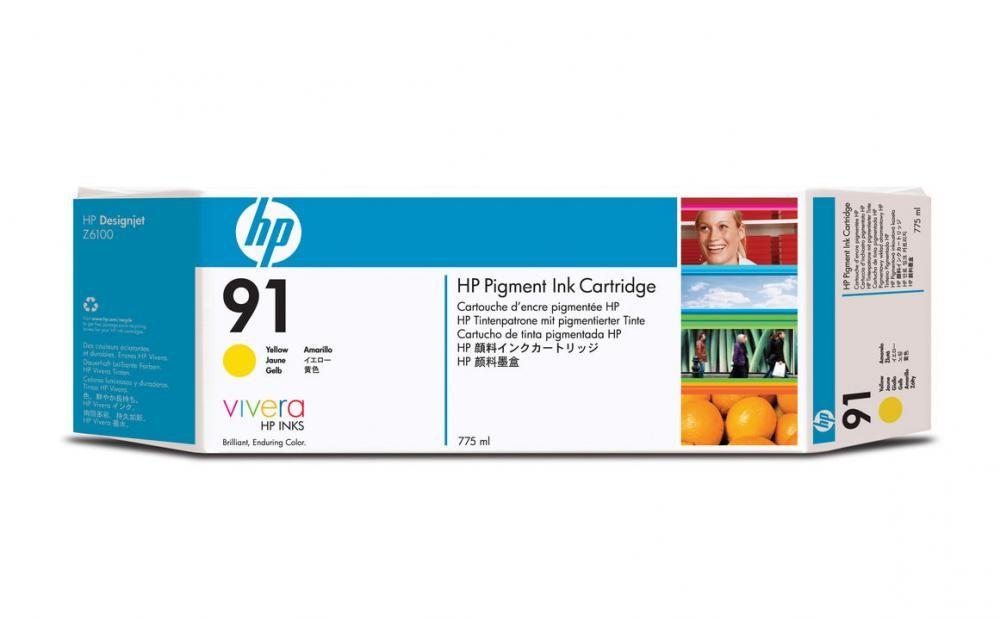 HP 91 775-ml Pigment Yellow Ink Cartridge - C9469A