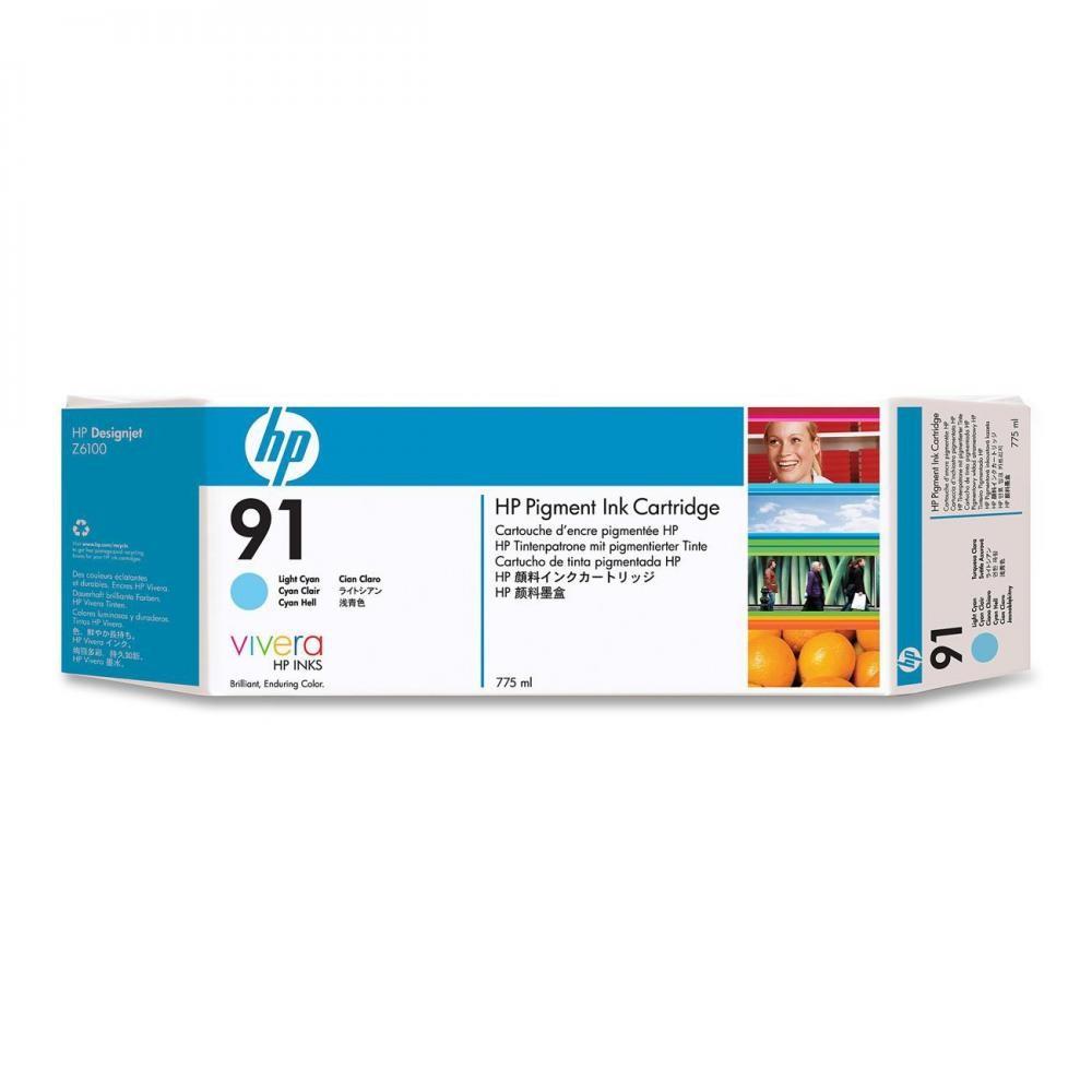 HP 91 775-ml Pigment Light Cyan Ink Cartridge - C9470A
