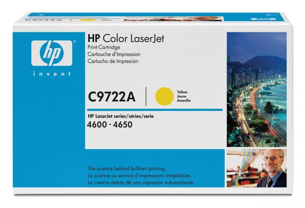 HP Color LaserJet C9722A Yellow Print Cartridge - C9722A