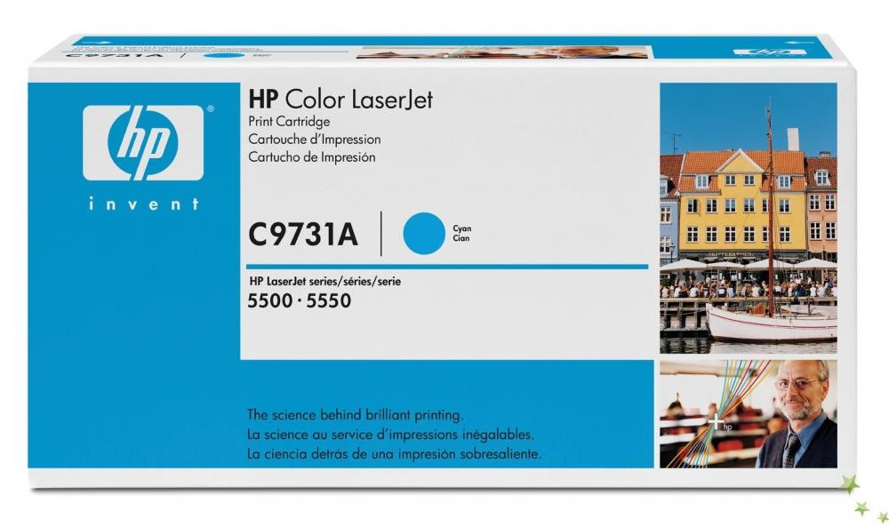 HP Color LaserJet C9731A Cyan Print Cartridge - C9731A