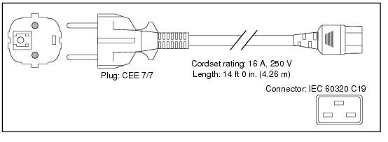 Cisco CAB-AC-2500W-EU= cavo di alimentazione Nero 4,26 m CEE7/7 Accoppiatore C19 cod. CAB-AC-2500W-EU=
