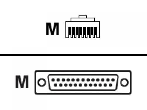 Cisco CAB-CONAUX= cavo seriale Nero 1,8 m DB25 RJ-45 cod. CAB-CONAUX=