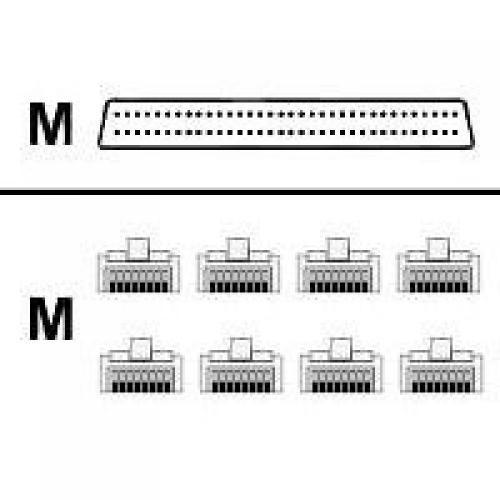 Cisco Cable 8 Lead Octal 68 pin - 8 RJ45 cavo di rete 1,22 m Nero cod. CAB-OCTAL-ASYNC=