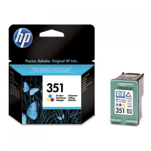 HP 351 Original Ciano, Magenta, Giallo 1 pezzo(i) cod. CB337EE
