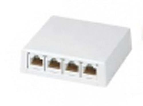 Panduit 4-port Outlet Without Moduls 4 x RJ-45 Bianco cod. CBX4AW-AY