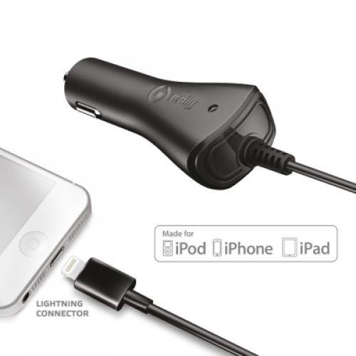 Celly CCIP5 caricabatterie per cellulari e PDA Auto Nero cod. CCIP5