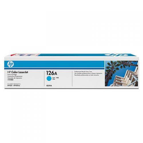 HP 126A Cyan LaserJet Print Cartridge - CE311A