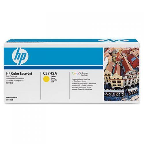 HP Color LaserJet CE742A Yellow Print Cartridge - CE742A