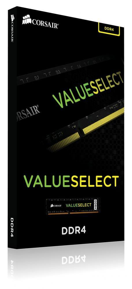 Corsair ValueSelect 4GB, DDR4, 2400MHz memoria cod. CMV4GX4M1A2400C16