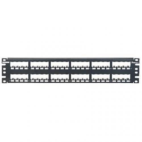 Panduit 48-port metal modular patch panel 2U cod. CP48BLY