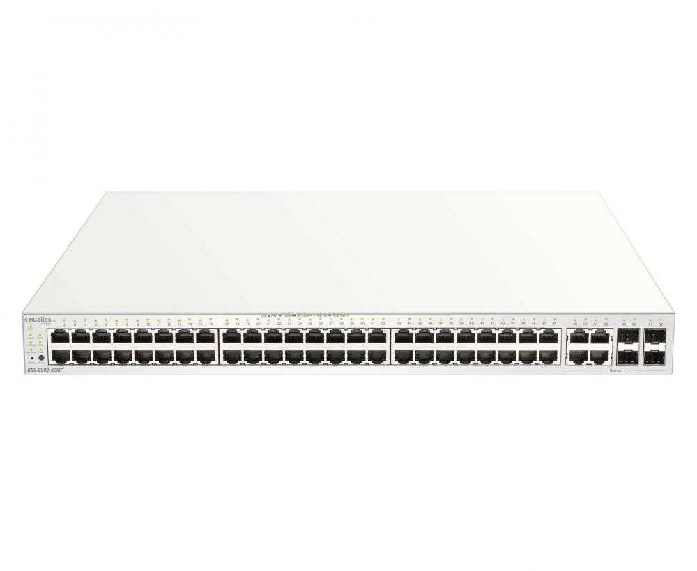 D-Link DBS-2000-52MP switch di rete Gestito Gigabit Ethernet (10/100/1000) Grigio Supporto Power over Ethernet (PoE) cod. DBS-2000-52MP
