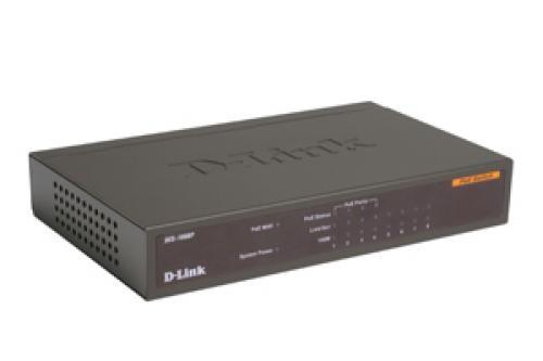 D-Link DES-1008PA switch di rete Non gestito Fast Ethernet (10/100) Nero Supporto Power over Ethernet (PoE) cod. DES-1008PA