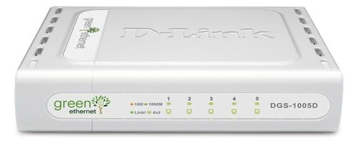D-Link 5-Port 10/100/1000 Desktop Switch - DGS-1005D