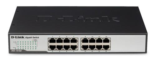 D-Link 16-Port 10/100/1000 Rackmountable Switch - DGS-1016D