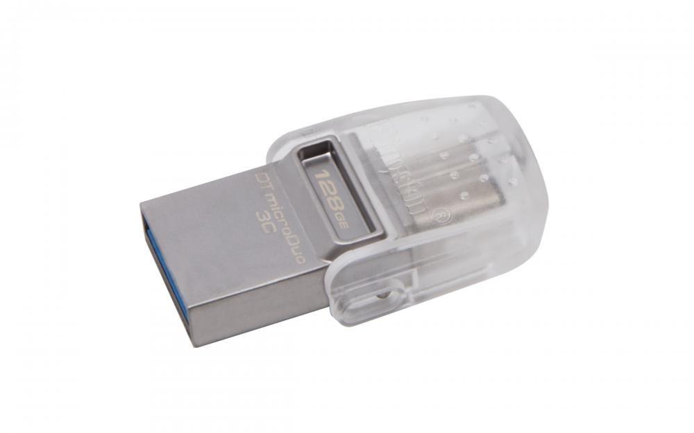 Kingston Technology DataTraveler microDuo 3C 128GB 128GB USB 3.0 (3.1 Gen 1) Type-A/Type-C Silver USB flash drive cod. DTDUO3C/128GB