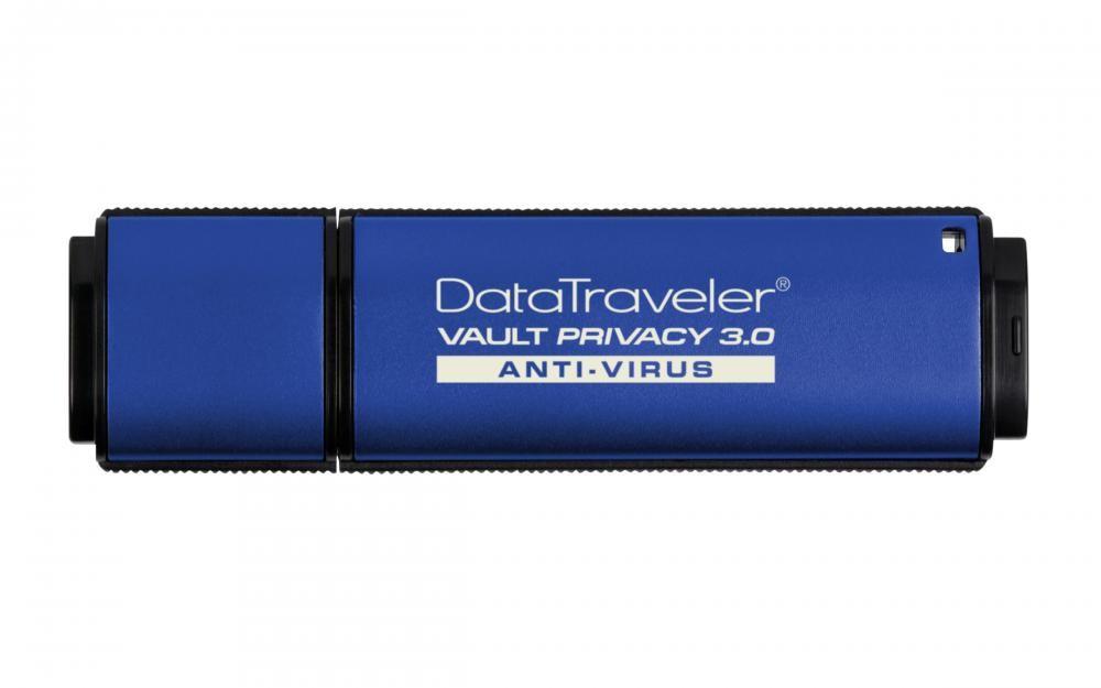 Kingston Technology DataTraveler Vault Privacy 3.0 Anti-Virus 16GB 32GB USB 3.0 (3.1 Gen 1) Type-A Blue USB flash drive cod. DTVP30AV/16GB