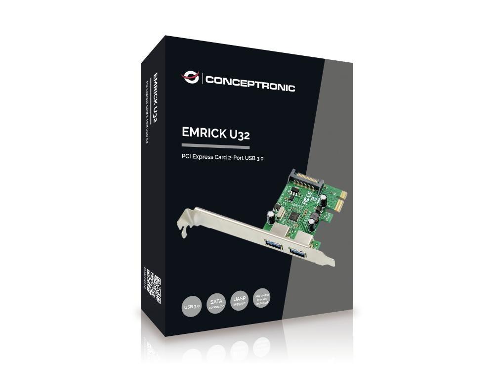 Conceptronic EMRICK01G scheda di interfaccia e adattatore USB 3.2 Gen 1 (3.1 Gen 1) Interno cod. EMRICK01G