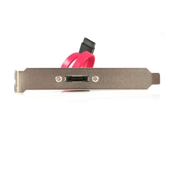 StarTech.com eSATA Cable with External Slot Plate cavo SATA 0,3 m Nero cod. ESATAPLATE1