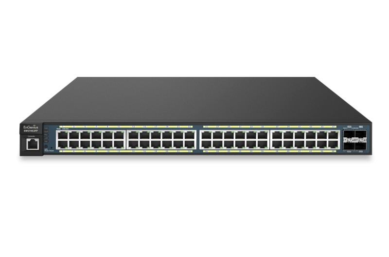 EnGenius EWS7952FP switch di rete Gestito L2 Gigabit Ethernet (10/100/1000) Nero 1U cod. EWS7952FP