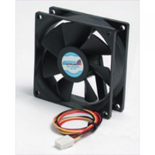 StarTech.com Quiet Dual Ball Bearing 8cm Case Fan with TX3 Connector - FAN8X25TX3L