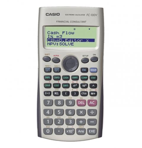 Casio FC-100V calcolatrice Tasca Calcolatrice finanziaria Grigio cod. FC-100V