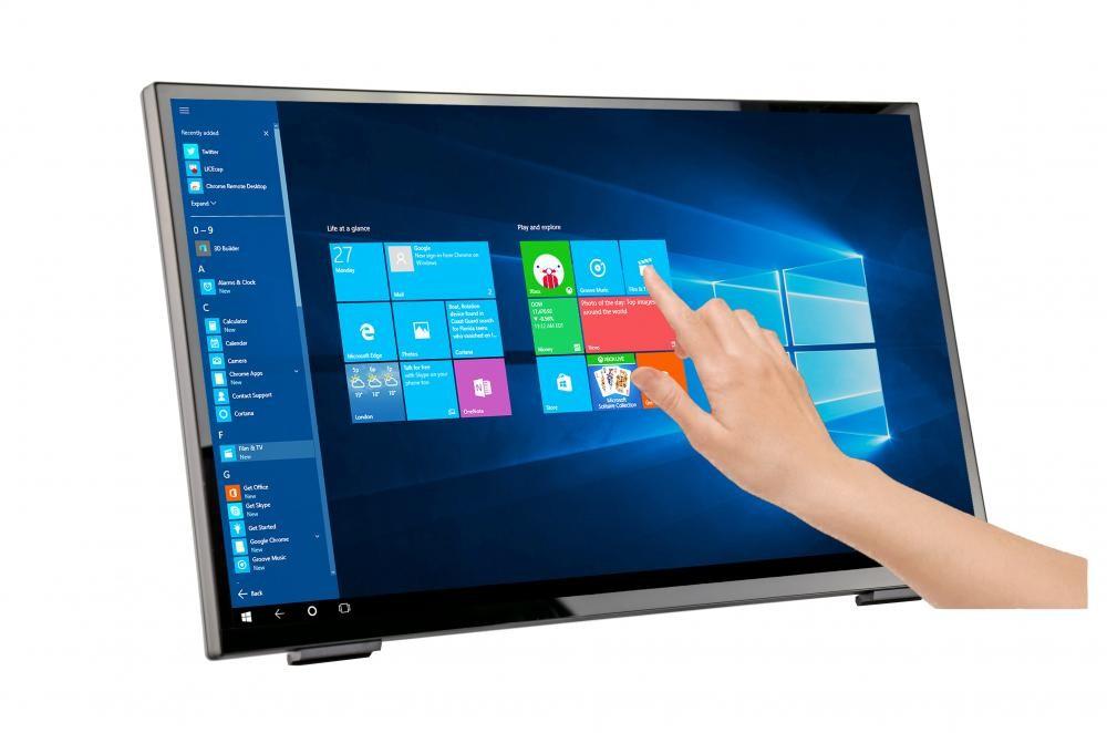 "Hannspree HT 248 PPB monitor touch screen 60,5 cm (23.8"") 1920 x 1080 Pixel Nero Multi-touch Da tavolo cod. HT248PPB"