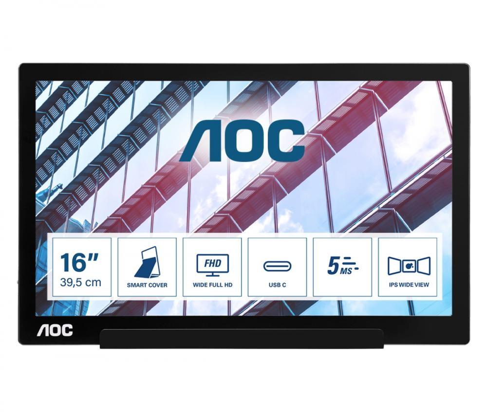 """AOC 01 Series I1601P monitor piatto per PC 39,6 cm (15.6"""") Nero cod. I1601P"""