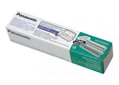 Panasonic KX-FA55X ricambio per fax 280 pagine Nero Nastro per fax 2 pezzo(i) cod. KX-FA55X